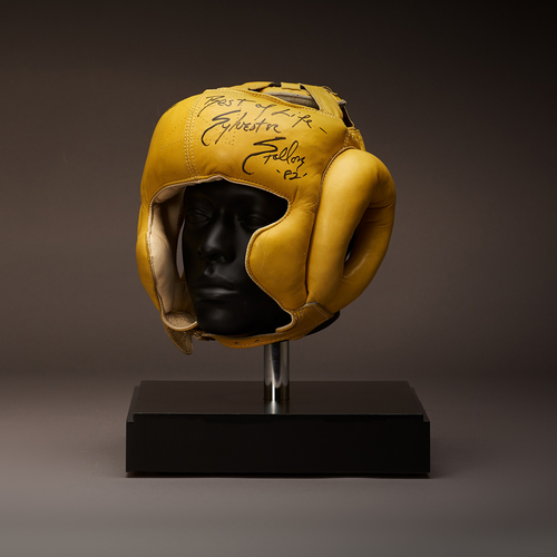 Rocky Headgear signed by Sylvester Stallone