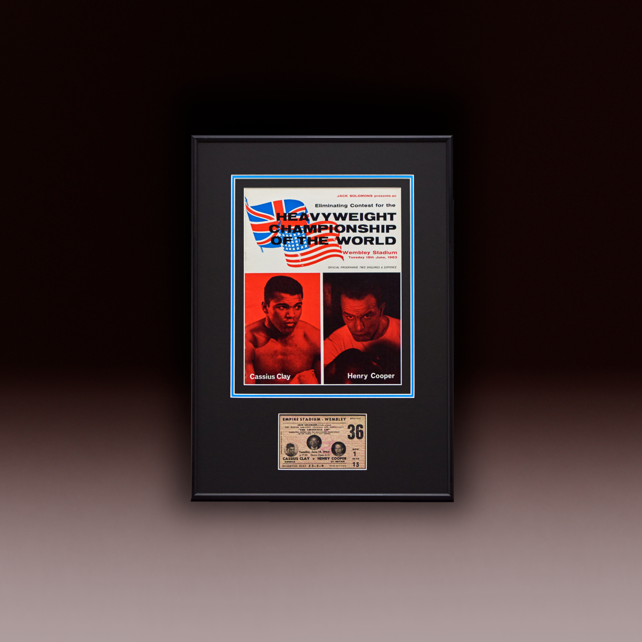 Shop 1963 Cassius Clay Vs Henry Cooper Site Poster Website Bg
