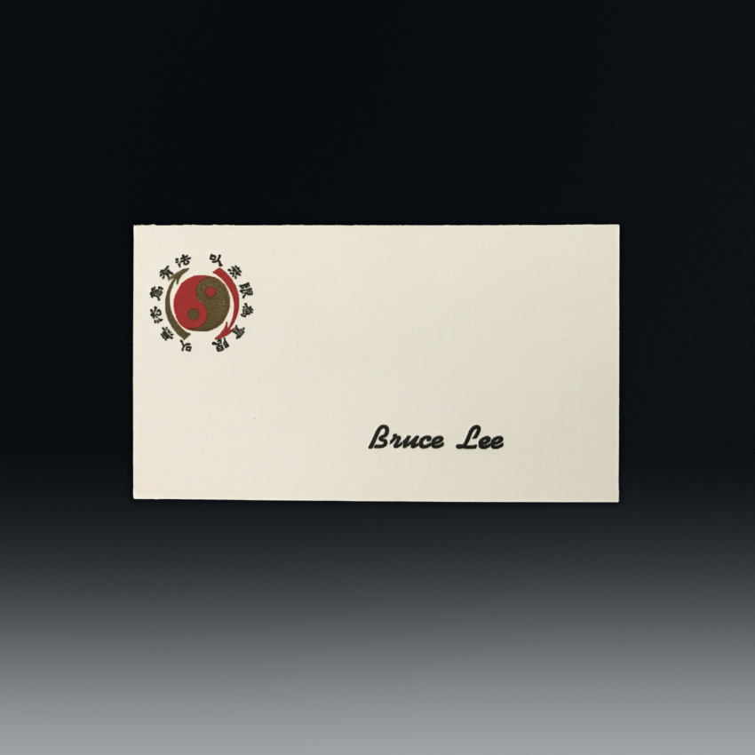 Km0182 Bruce Lee Small Logo Single Sided Business Card