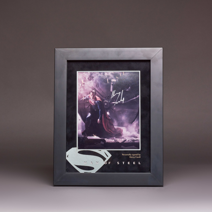 Man Of Steel Signed Photo Display Km 0463 Kudos Catalogue Shoot2706